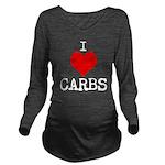 I heart Carbs Long Sleeve Maternity T-Shirt