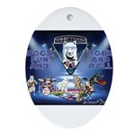Dogs, Fun. & Rock and Roll Ornament (Oval)