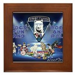 Dogs, Fun. & Rock and Roll Framed Tile