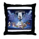 Dogs, Fun. & Rock and Roll Throw Pillow