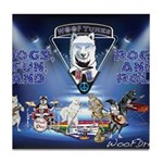 Dogs, Fun. & Rock and Roll Tile Coaster