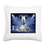 Dogs, Fun. & Rock and Roll Square Canvas Pillow
