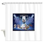 Dogs, Fun. & Rock and Roll Shower Curtain