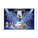 Dogs, Fun. & Rock and Roll Sticker