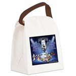 Dogs, Fun. & Rock and Roll Canvas Lunch Bag