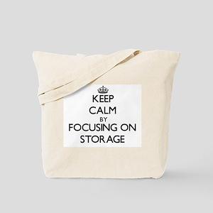 Keep Calm by focusing on Storage Tote Bag