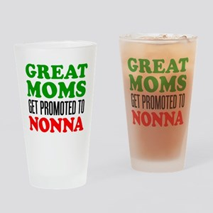 Promoted To Nonna Drinking Glass