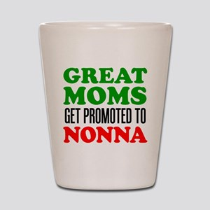 Promoted To Nonna Shot Glass