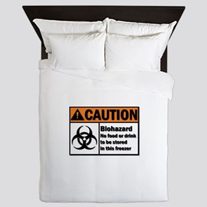 Biohazard Warning Queen Duvet