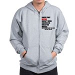 Hating Doesnt Burn Calories Zip Hoodie