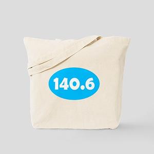 Sky Blue 140.6 Oval Tote Bag