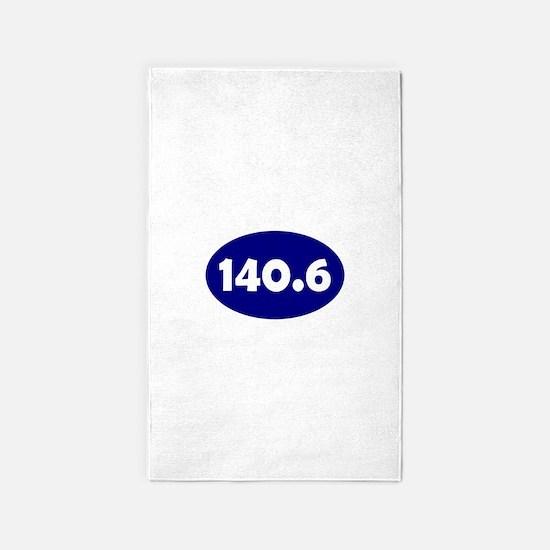 Blue 140.6 Oval 3'x5' Area Rug