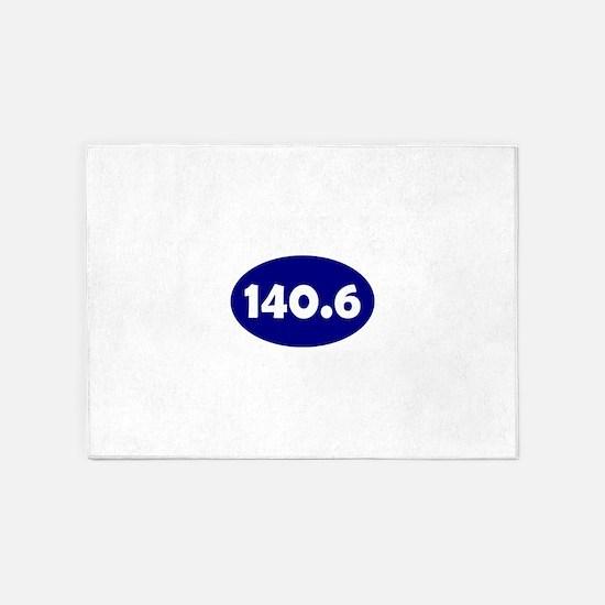Blue 140.6 Oval 5'x7'Area Rug