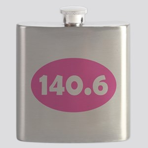 Pink 140.6 Oval Flask
