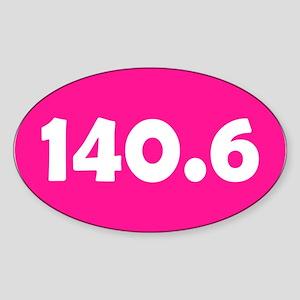 Pink 140.6 Oval Sticker