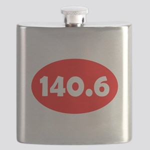 Red 140.6 Oval Flask
