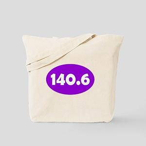 Purple 140.6 Oval Tote Bag
