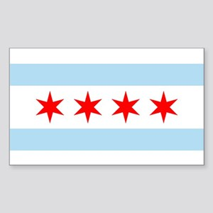 Chicago Flag Rectangle Sticker