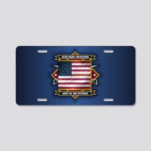 20th Maine (diamond) Aluminum License Plate