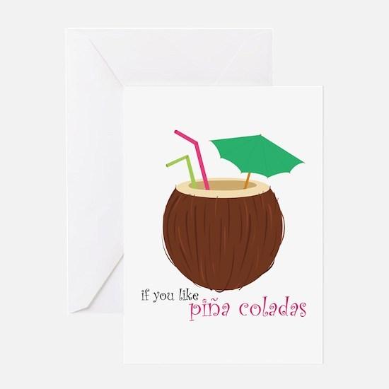 Pina Colada Greeting Cards