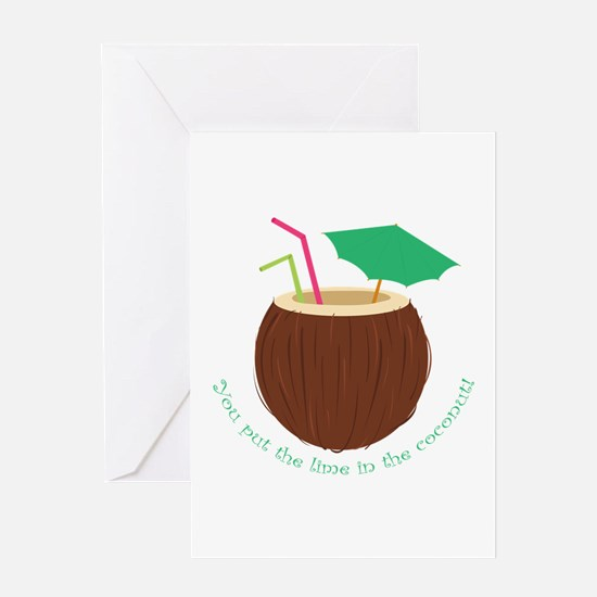 Lime In Coconut Greeting Cards