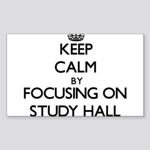 Keep Calm by focusing on Study Hall Sticker