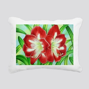 Amaryllis Rectangular Canvas Pillow