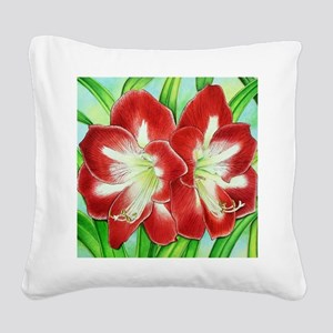 Amaryllis Square Canvas Pillow