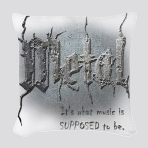Metal Woven Throw Pillow