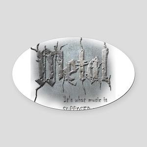 Metal Oval Car Magnet