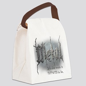 Metal Canvas Lunch Bag