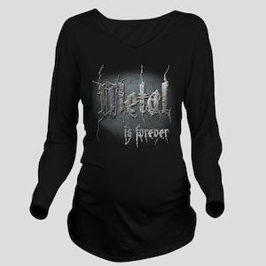 Metal 2 Long Sleeve Maternity T-Shirt