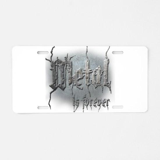 Metal 2 Aluminum License Plate