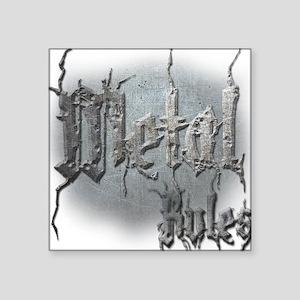 "Metal3 Square Sticker 3"" x 3"""