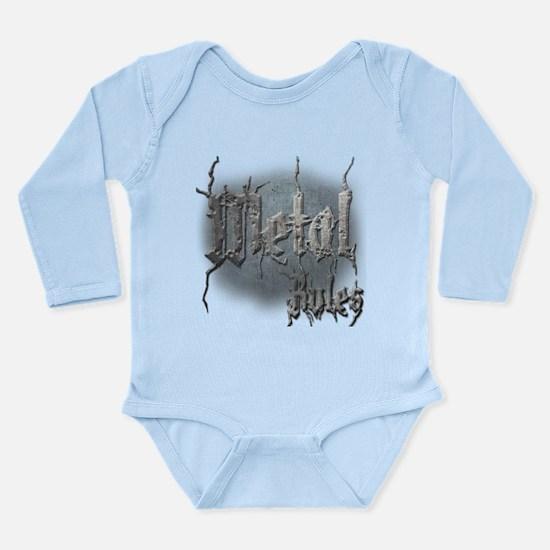 Metal3 Long Sleeve Infant Bodysuit