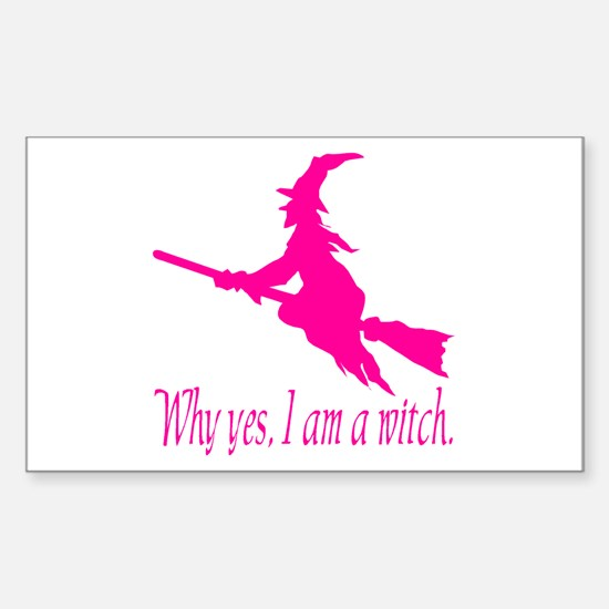 Pink I am Rectangle Decal