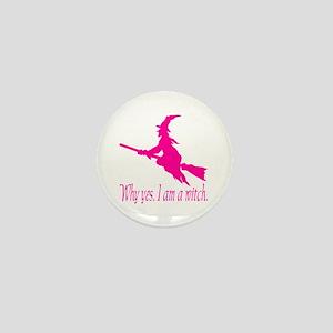 Pink I am Mini Button