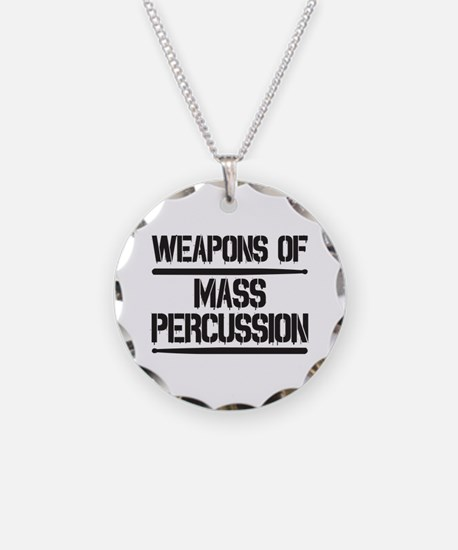 Weapons of Mass Percussion Necklace Circle Charm