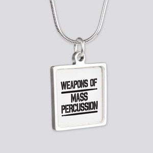 Weapons of Mass Percussion Silver Square Necklace