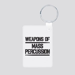 Weapons of Mass Percussion Aluminum Photo Keychain