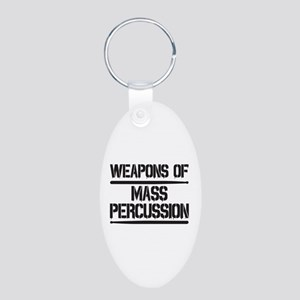 Weapons of Mass Percussion Aluminum Oval Keychain