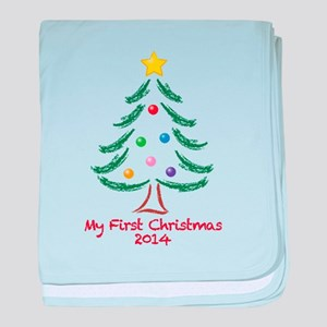 My First Christmas 2014 baby blanket