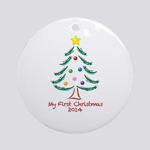 My First Christmas 2014 Ornament (Round)