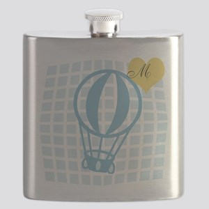 Travel Vacation Monogram Flask