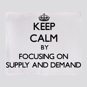 Keep Calm by focusing on Supply And Throw Blanket