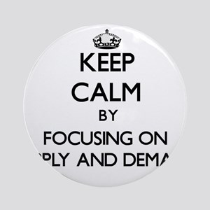 Keep Calm by focusing on Supply A Ornament (Round)