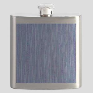Funny Bubble Stripes,blue Flask