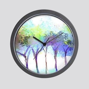 With the Trees Landscape Wall Clock