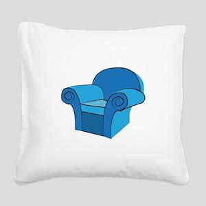 Arm Chair Square Canvas Pillow