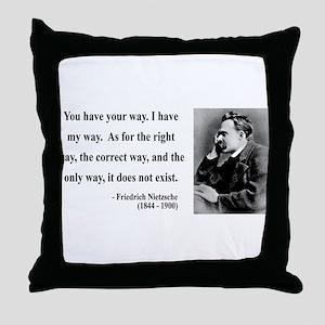 Nietzsche 1 Throw Pillow